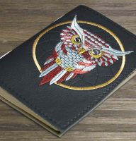 Native American embroidered notepad cover