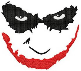 Joker's smile machine embroidery design