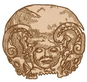 Gorgon machine embroidery design