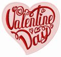 Valentine Day embroidery design