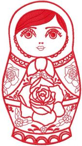 Nesting doll red