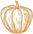 Juicy pumpkin embroidery design
