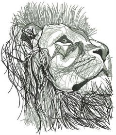 Lion from Narnia machine embroidery design