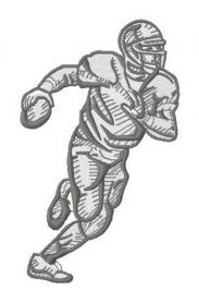 American football player 9 machine embroidery design