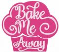 Bake me away free embroidery design