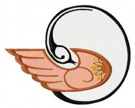 Graceful firebird 3 machine embroidery design