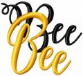 Bee bee free machine embroidery design