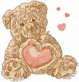 Old teddy toy 11 embroidery design