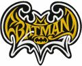 Batman modern logo embroidery design