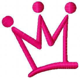 pink crown free embroidery design
