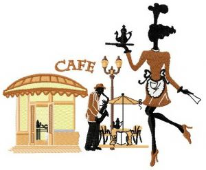 French summer cafe