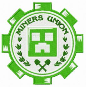 Miners Union logo machine embroidery design