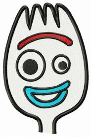 Forky machine embroidery design