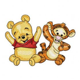 Baby Pooh and Baby Tigger 3 machine embroidery design