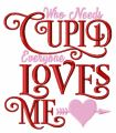 Cupid loves me embroidery design