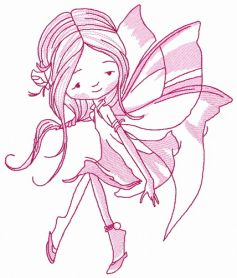 Young fairy 9 machine embroidery design