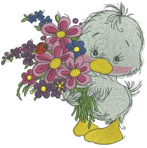 Duckling with bouquet 2