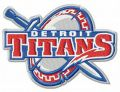 Detroit Titans logo embroidery design