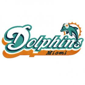 Dolphin machine embroidery design