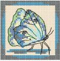 Butterfly cross stitch free embroidery design