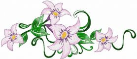 lily free embroidery design 10