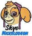 Skye Nickelodeon embroidery design