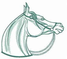 Horse with pearl bridle 5