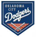 Oklahoma City Dodgers logo embroidery design