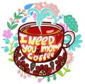 I need you more than coffee embroidery design
