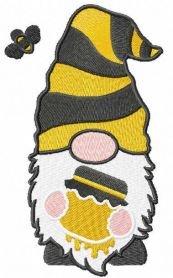 Honey gnome embroidery design