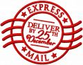 Express mail deliver by 25th december embroidery design