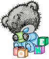 Tatty Teddy Bear play embroidery design