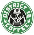 District 12 coffee embroidery design
