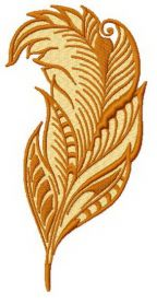 Feather 5 machine embroidery design