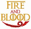 Fire and Blood embroidery design
