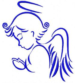 Praying Angel free embroidery design 6