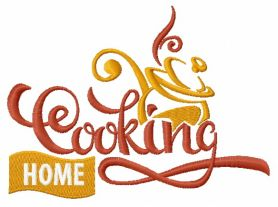 Home cooking machine embroidery design