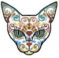 Mexican cat embroidery design