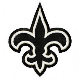 New Orleans Saints 50th anniversary 4 machine embroidery design