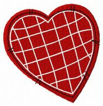 Stitched heart