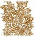Autumn butterflies 2 embroidery design