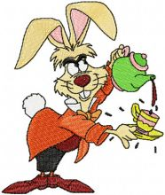 March Hare with tea pot