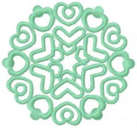Light green snowflake free embroidery design