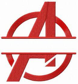 Avengers monogram machine embroidery design