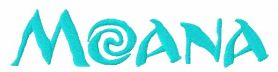 Moana logo machine embroidery design