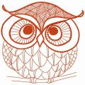 Autumn forest owl 4 embroidery design