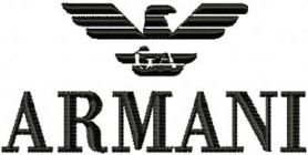 Armani Logo machine embroidery design