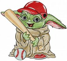Yoda baseball player