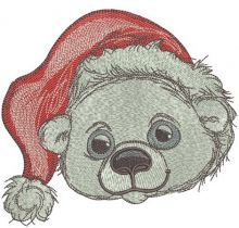 Polar bear in Santa hat 2