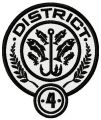 District 4 embroidery design
